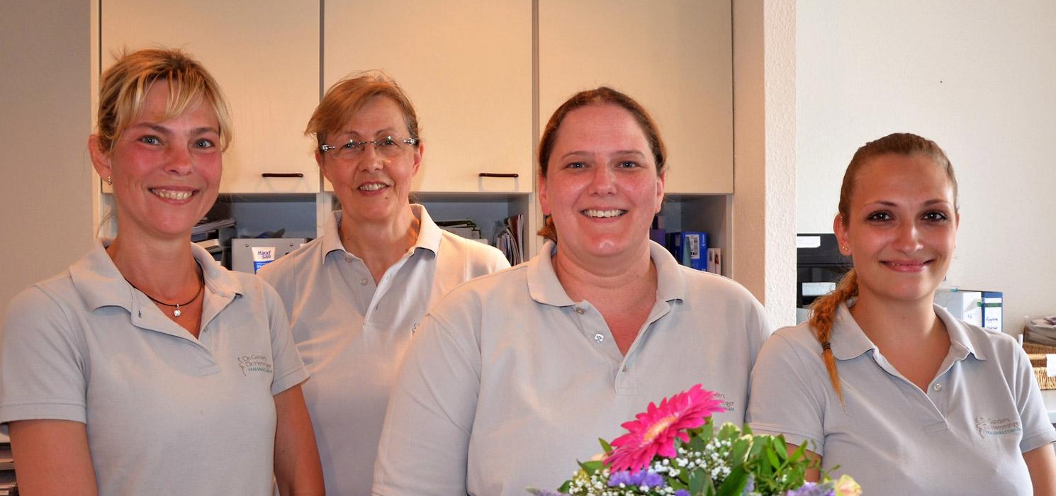 Frau Lemcke, Frau Hofmann, Frau Herold und Frau Henke